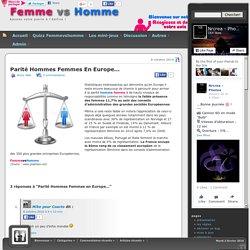 Parité Hommes Femmes en Europe… « Femme Vs Homme