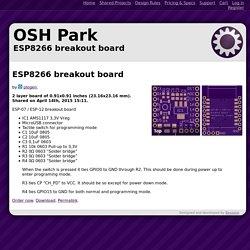 OSH Park ~ ESP8266 breakout board