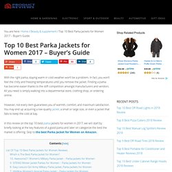 The 10 Best Parka Jackets for Women in 2017 - Buyer's Guide (September. 2017)
