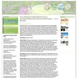 Vom zufriedenen Parkbankbewohner zum spirituellen Medienstar Interview mit Doris Iding, Mai 2004