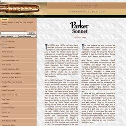 Parker Pens Guide: Sonnet