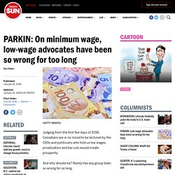 PARKIN: On minimum wage, low-wage advocates have been so wrong for too long