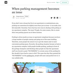 When parking management becomes an issue