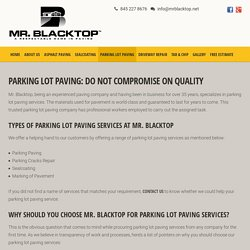 Parking Lot Paving, Parking Lot Paving Services – Hudson Valley, NY