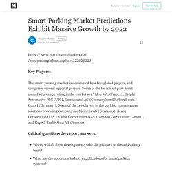 Smart Parking Market Predictions Exhibit Massive Growth by 2022