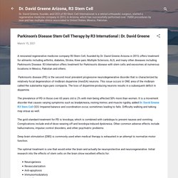 Parkinson's Disease Stem Cell Therapy by R3 International