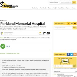 Parkland Memorial Hospital and Illegal Immigrants