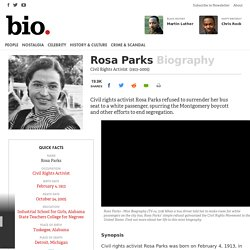 Rosa Parks - Biography - Civil Rights Activist
