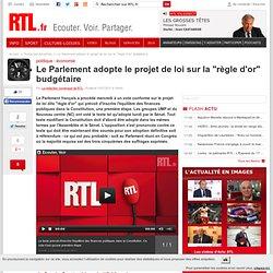 """Le Parlement adopte le projet de loi sur la """"règle d'or"""" budgétaire"""