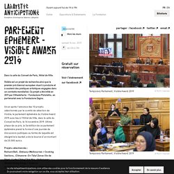 Parlement éphémère - Visible Award 2019