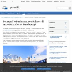 Pourquoi le Parlement se déplace-t-il entre Bruxelles et Strasbourg?