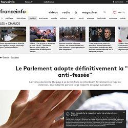 """Le Parlement adopte définitivement la """"loi anti-fessée"""""""