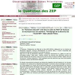 """Un """"Parlement éducatif"""" créé dans le cadre du PEDT de Toulouse et réunissant(...)"""
