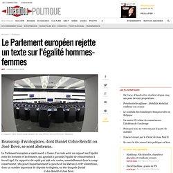 Le Parlement européen rejette untexte sur l'égalité hommes-femmes