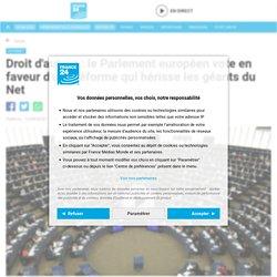 Droit d'auteur : le Parlement européen vote en faveur d'une réforme qui hérisse les géants du Net