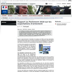 Rapport au Parlement 2018 sur les exportations d'armement
