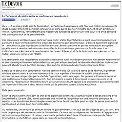 Le Parlement ukrainien retire sa confiance en Ianoukovitch
