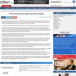 TTIP: le Parlement européen ajourne les débats