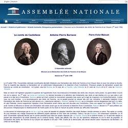 Discours sur la Déclaration des droits de l'homme et du Citoyen (août 1789)