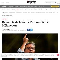 Demande de levée de l'immunité parlementaire de Mélenchon