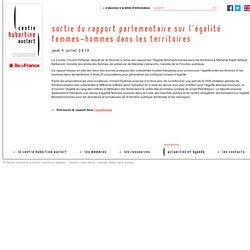 Sortie du rapport parlementaire sur l'égalité femmes-hommes dans les territoires
