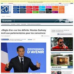 «Règle d'or» sur les déficits: Nicolas Sarkozy écrit aux parlementaires pour les convaincre