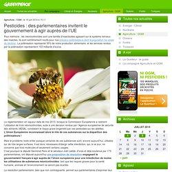 Pesticides : des parlementaires invitent le gouvernement à agir auprès de l'UE