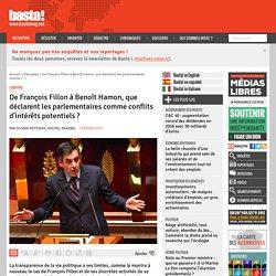 De François Fillon à Benoît Hamon, que déclarent les parlementaires comme conflits d'intérêts potentiels