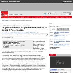 Les signataires sont présidents de tribunes parlementaires et président de la Fédération professionnelle des journalistes du Québec*