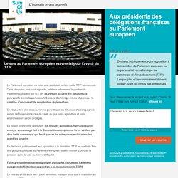 Parlementaires français : déclarez publiquement votre opposition au TTIP.