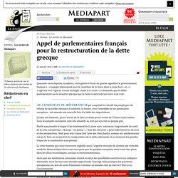 Appel de parlementaires français pour la restructuration de la dette grecque