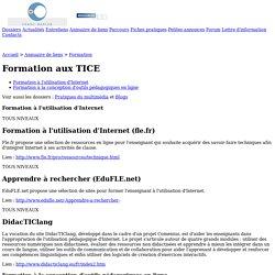 Franc-parler - Annuaire de liens : Formation > Formation aux TICE