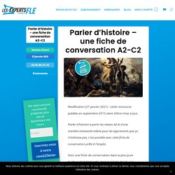 Parler d'histoire – une fiche de conversation A2-C2