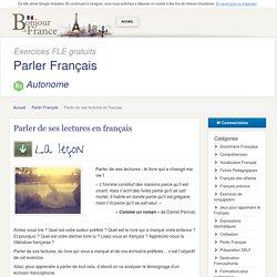 Parler de ses lectures en français