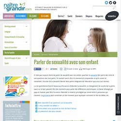 Parler de sexualité avec son enfant