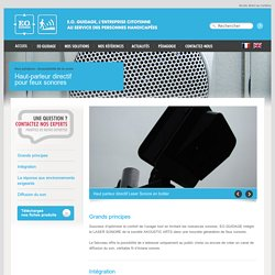Haut-parleur directif pour feux sonores - EO GUIDAGE