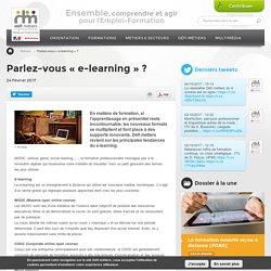 Parlez-vous « e-learning » ?