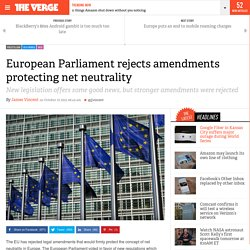 European Parliament rejects amendments protecting net neutrality