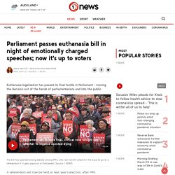 Parliament passes euthanasia bill in night of emotionally charged speeches; now it's up to voters