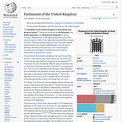 Parliament of the United Kingdom - Wiki