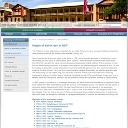 Parliament of NSW - History of democracy in NSW