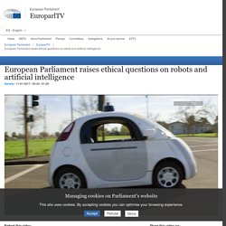 European Parliament raises ethical questions on robots and artificial intelligence - EuroparlTV