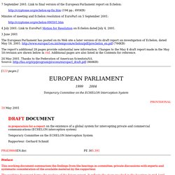 European Parliament Investigation of Echelon