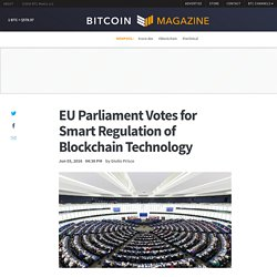 EU Parliament Votes for Smart Regulation of Blockchain Technology