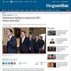 Parliament failing to represent UK's ethnic diversity