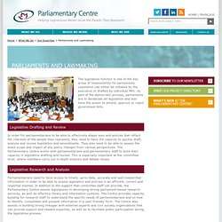 Parliamentary Centre | lawmaking, legislative drafting and review | Parliamentary Centre