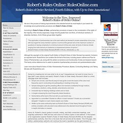 Robert's Rules of Order Online - Parliamentary Procedure and Parliamentarians