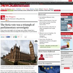 The Syria vote was a triumph of parliamentary sovereignty
