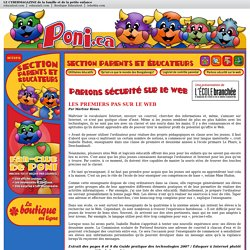 Parlons sécurité sur le web - Poni.ca
