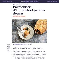 Parmentier d'épinards et patates douces